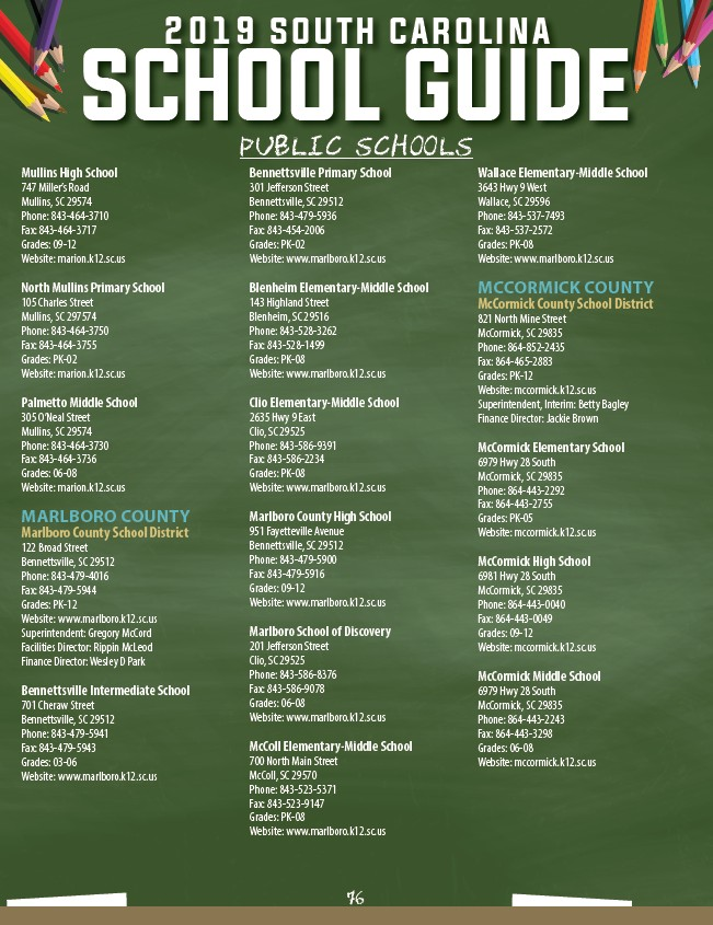 143 305 701 Microsoft Way Redmond: 2019 South Carolina School Guide